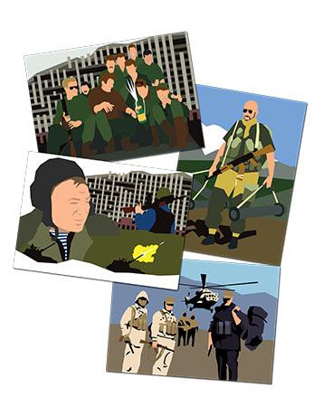 Открытки с героями Афгана и Чечни